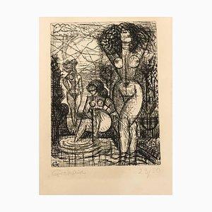 Les Trois Baigneuses - Original Etching by Marcel Gromaire - 1930 1930