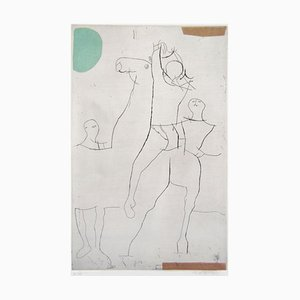 Jugglers - Original Etching by Marino Marini - 1971 1971
