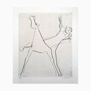 Acquaforte L'Idée - Acquaforte originale di Marino Marini - 1950 1950