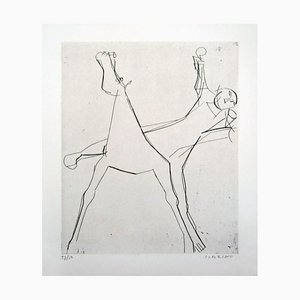 L'Idée (The Idea) - Original Etching by Marino Marini - 1950 1950
