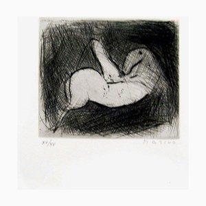 Small Knight - Original Etching by Marino Marini - 1950 1950