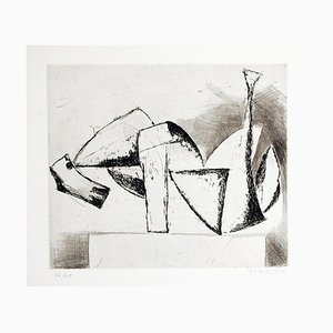 The Cry - Original Etching by Marino Marini - 1962 1962