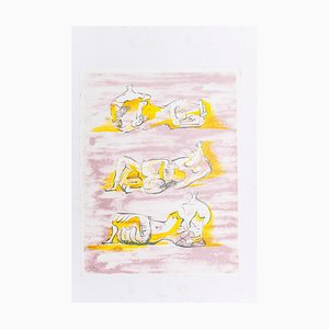 The Reclining Figures - Original Lithograph by Henry Moore - 1971 1971