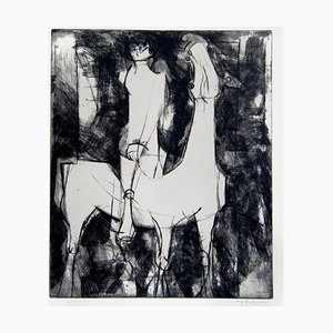 The Idea of the Knight - Original Etching by Marino Marini - 1971 1971