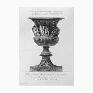 Vaso antico di marmo che è ornato di quattro Maschere - Etching 1778 1778