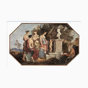 Allegoric Scene with Vestal Virgins and Satyr - 19th Century - Painting - Modern 19th Century
