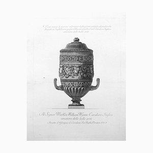Vaso antico di marmo adornato di finissimi intagli ed arabeschi - Etching 1778 1778