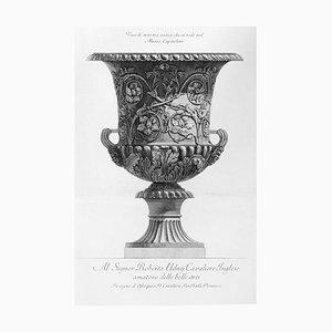 Vaso de marmónico blanco de Museo Capitolino - Etching 1778 1778