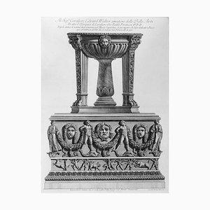 Tripode antico di marmo che si conserva nel Museo Capitolino - Etching 1778 1778