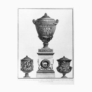 Vasi Antichi di Marmo Eccellentemente Scolpiti ... - Gravure à l'Eau Forte - 1778 1778