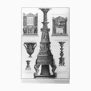 Vari Candelabri, un Vaso e Due Urne Cinerarie - Gravure à l'eau-forte - 1778 1778