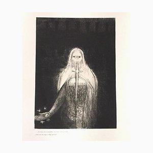 Et is avait en sa main droite sept étoiles - Original Litho by O. Redon - 1899 1899