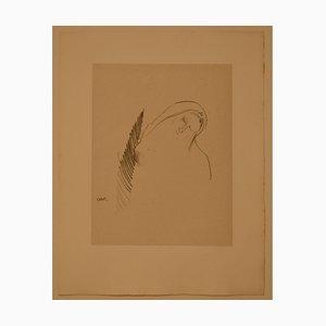 Le Sommeil - Original Lithograph by Odilon Redon - 1898 1898