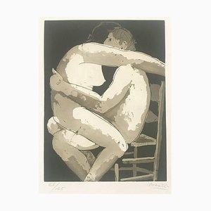 Acquaforte I amanti - Incisione originale di Giacomo Manzù - 1970, 1970