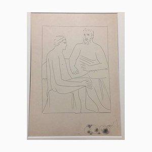 Numa suit les Cours de Pythagore - From ''Les Métamorphoses d'Ovide'' 1931