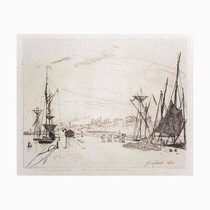 Vue du Port au Chemin de Fer à Honfleur 1866