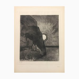 '' Les Fleurs du Mal '' - Original Radierung von Odilon Redon - 1923 1923