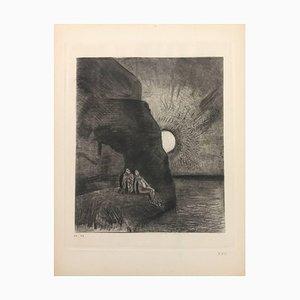 Gravure à l'Eau-Forte originale '' Les Fleurs du Mal '' par Odilon Redon - 1923 1923