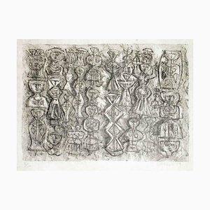 Gli Idoli - Original Lithograph by Massimo Campigli - 1970 ca. 1970 ca.