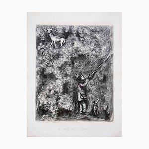 Le Cerf et la Vigne - Original Etching by M. Chagall - 1930 1930
