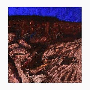 Distancia del paisaje - años 70 - Ruggero Savinio - Oil Painting 1973