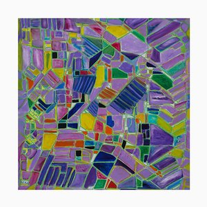 Reticulum - Oil on Canvas par Giorgio Lo Fermo - 1995 1995