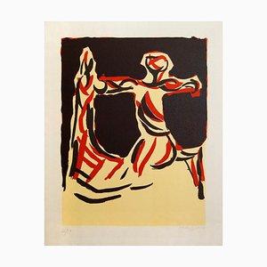 Chevalier - Original Color Lithograph by Marino Marini 1970