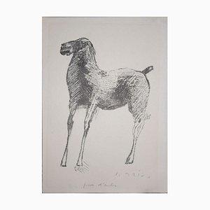 Horse-1 - Rare Original Lithograph - 1948 1948