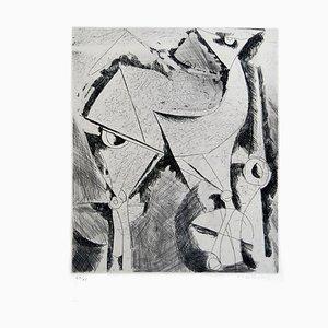 Cheval (Horse) - Original b/w Etching - 1956 1956