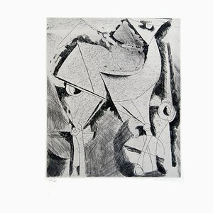 Cheval (Horse) - Original s / w Radierung - 1956 1956