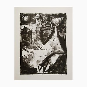 Idea of a Knight - Original b/w lithograph - 1965 1965
