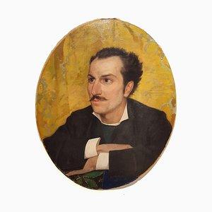 Portrait des jungen Mannes mit Schnurrbart - 20. Jahrhundert - Painting - Modern