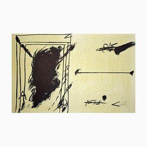 Sans Titre (Ohne Titel) - Original Lithographie von Antoni Tàpies