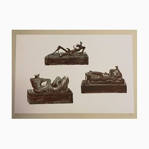 Three Reclining Figures - Original Lithograph by Henry Moore - 1976 1976