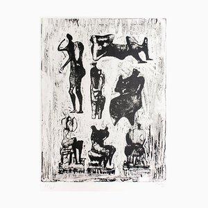 Seven Sculptural Ideas - 1970s - Henry Moore - Lithograph - Contemporary 1973