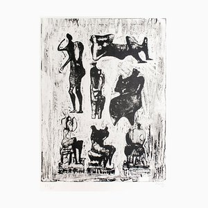 Sieben skulpturale Ideen - 1970er - Henry Moore - Lithografie - Contemporary 1973
