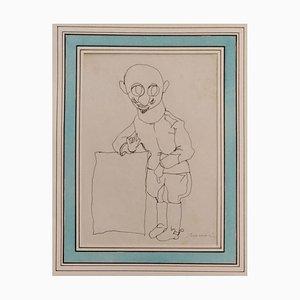 Portrait of D'Annunzio - 1930s - Mino Maccari - Drawing - Modern