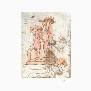 Assiette Untitled 8 de Paroles Peintes Suite - 1970s - Sebastián Matta 1971