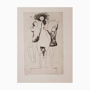 Giocolieri (Jugglers) - Original Etching by Marino Marini - 1969 1969