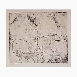 Gioco del Cavaliere (Game of the Knight) - Original Etching by M. Marino - 1969 1969