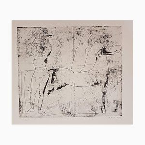 Fondale - Original Etching by Marino Marini - 1969 1969