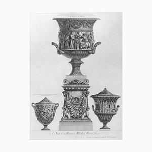 Tre Vasi - Original Etching by G.B. Piranesi - 1778 1778