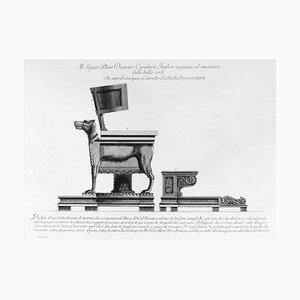 Profilo d'una Sedia Curule di Marmo 1778