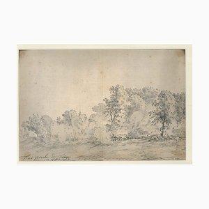 Turin Countryside - Original Ink and Watercolor by Jan Pieter Verdussen - 1744 1744