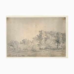 Turin Landschaft - Original Tinte und Wasserfarbe von Jan Pieter Verdussen - 1744 1744