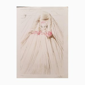 Plate from ''Tristan and Isolde'': The Queen with a Silk Tunic 1969