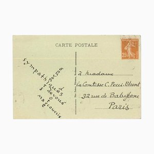 Postcard from Bordeaux, Louis Marcoussis to Countess Pecci Blunt