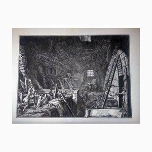 Dimostrazioni dell'Emissario del Lago Albano - Original Etching by G.B. Piranesi