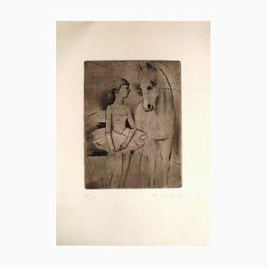 The Horse and the Dancer - Original Etching by Theodore Stravinsky - 1932 1932
