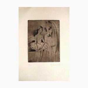 The Horse and the Dancer - Original Radierung von Theodore Stravinsky - 1932 1932